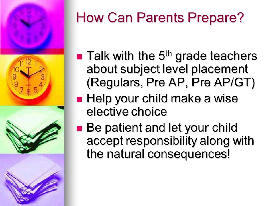 How Can Parents Prepare