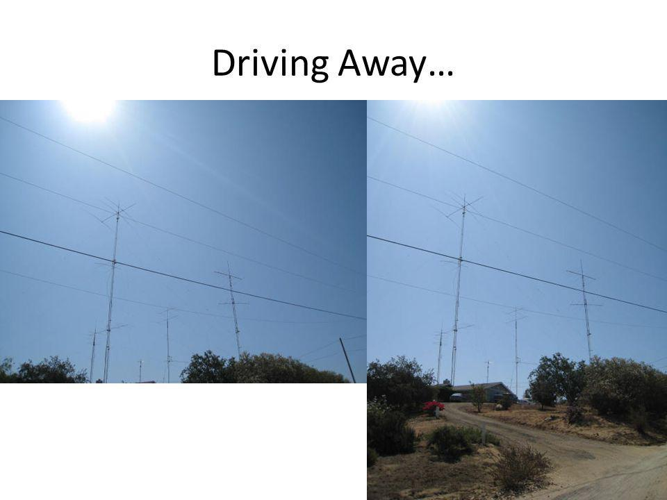 Driving Away…