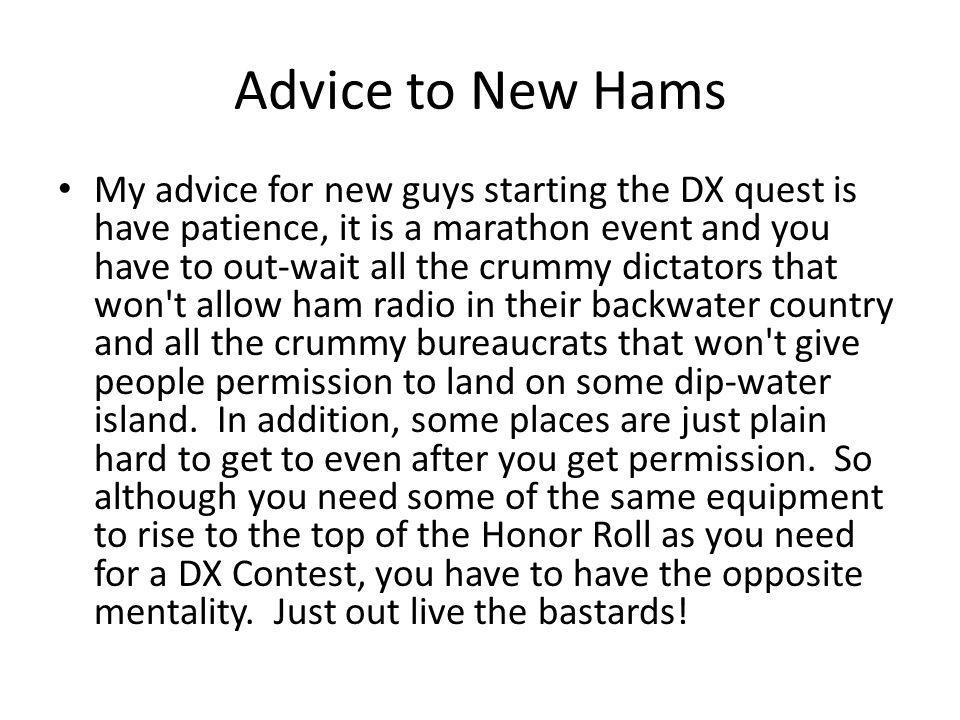 Advice to New Hams