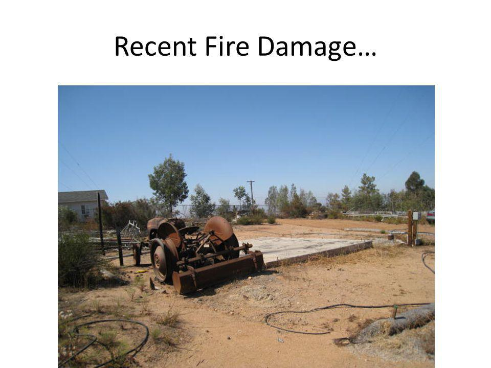 Recent Fire Damage…