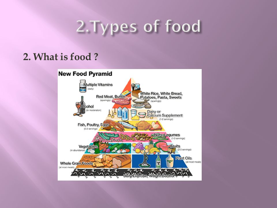 2.Types of food 2. What is food