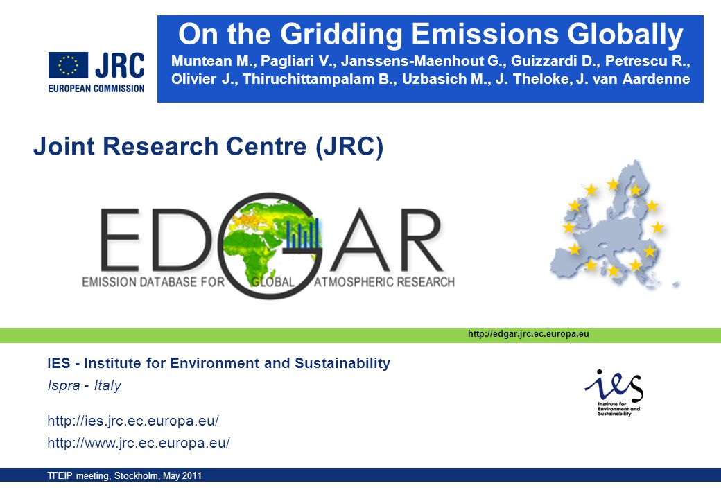 On the Gridding Emissions Globally Muntean M. , Pagliari V