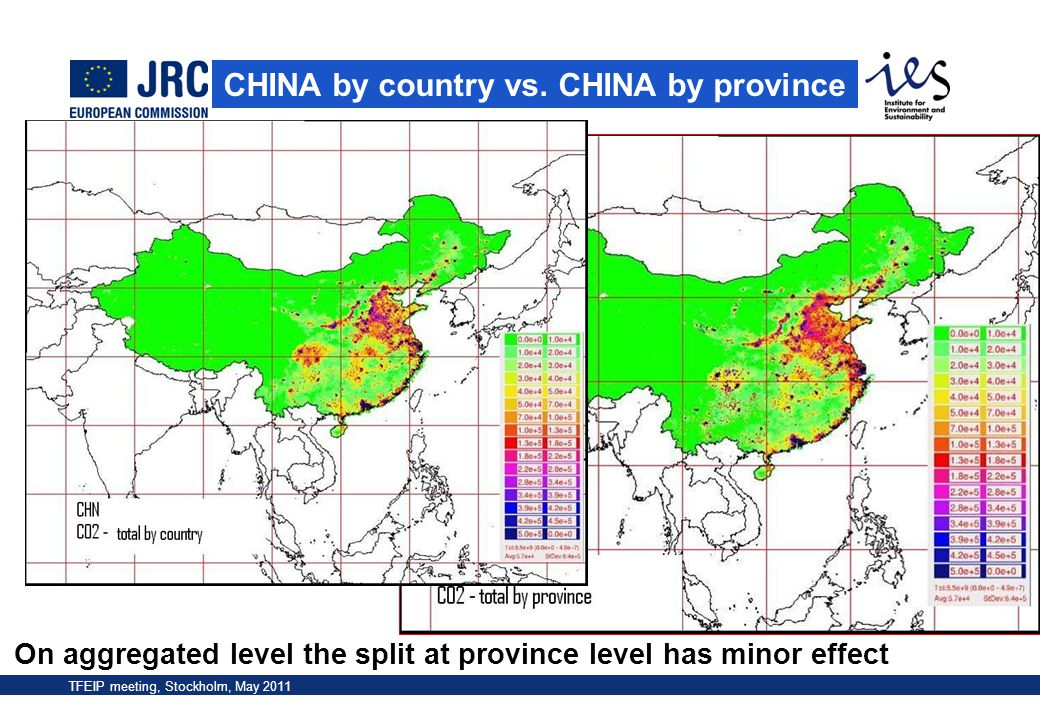 CHINA by country vs. CHINA by province