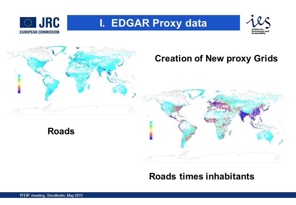 Creation of New proxy Grids Roads times inhabitants