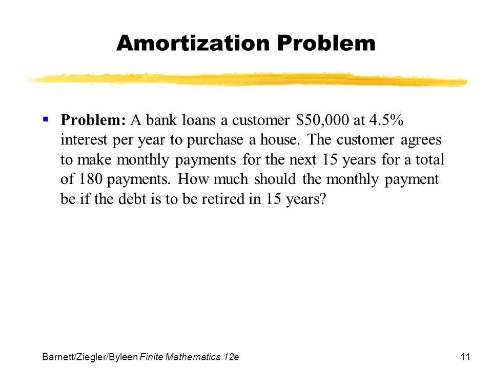 Amortization Problem
