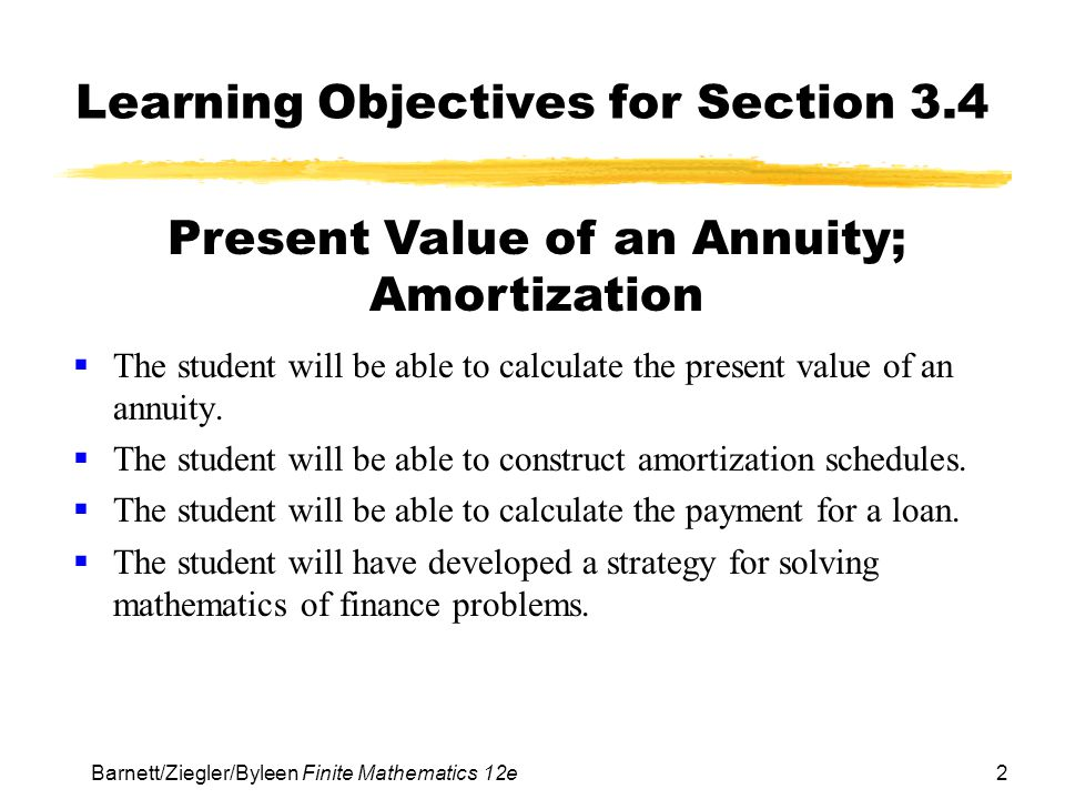 Learning Objectives for Section 3.4