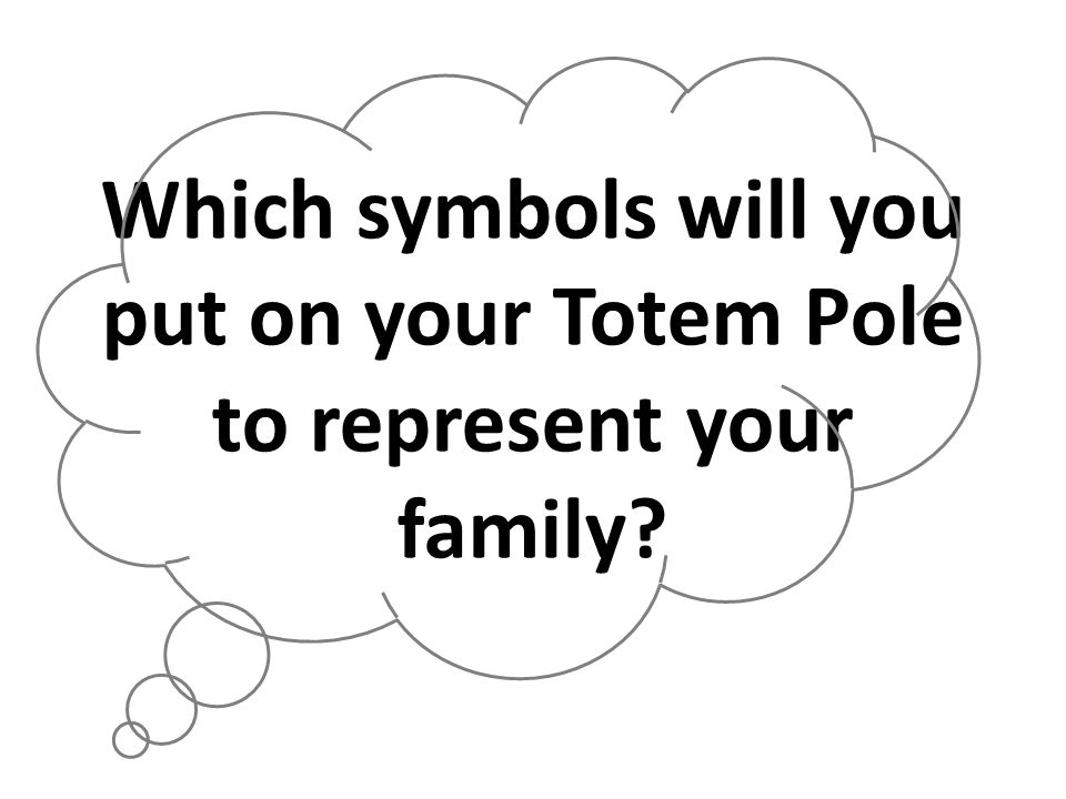 Which symbols will you put on your Totem Pole to represent your family
