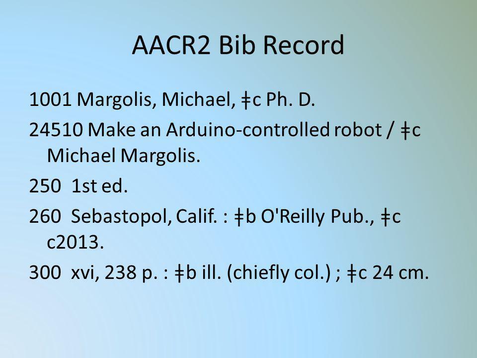 AACR2 Bib Record