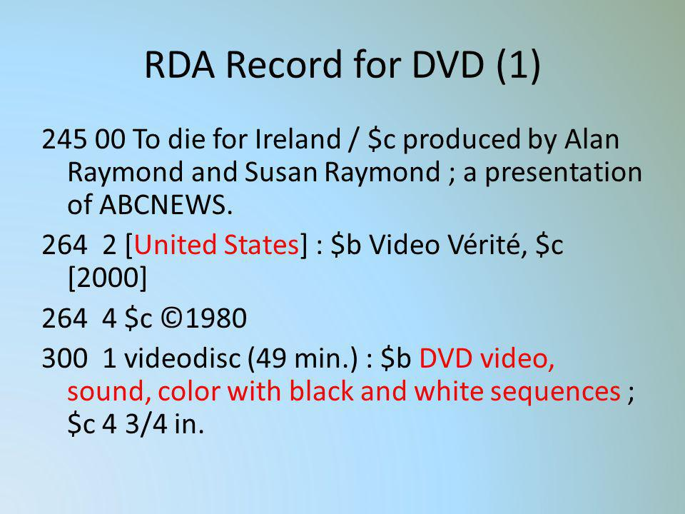 RDA Record for DVD (1)