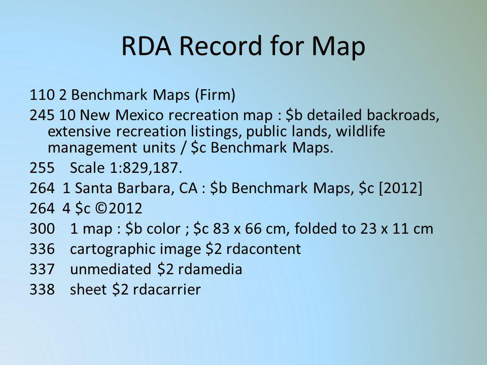 RDA Record for Map