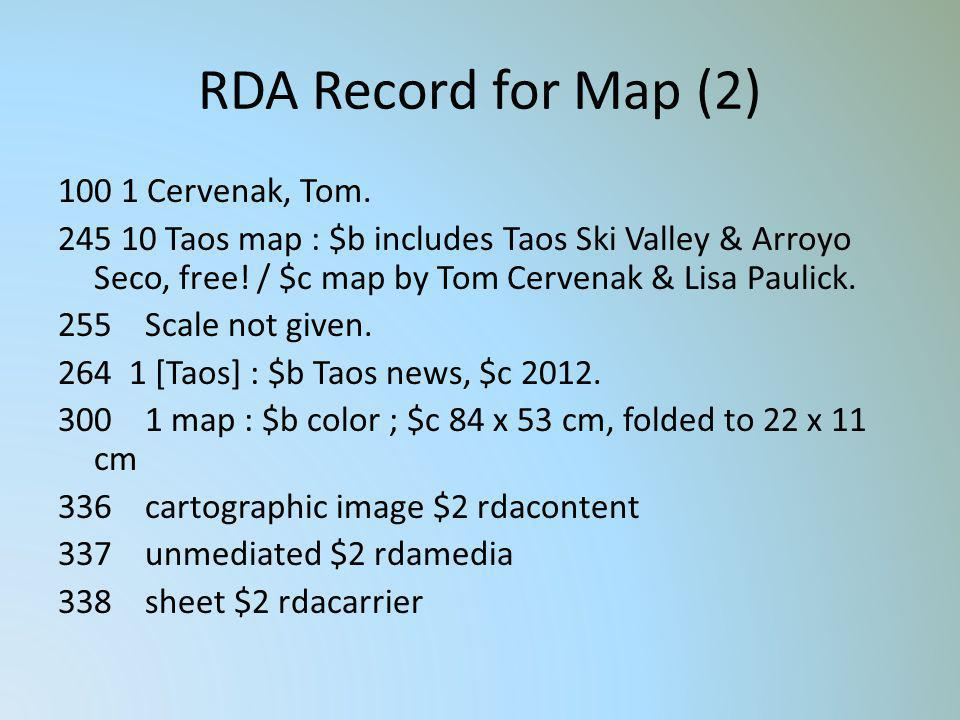 RDA Record for Map (2)