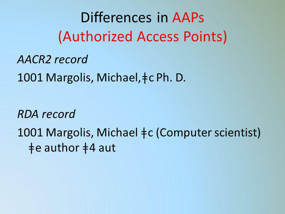 Differences in AAPs (Authorized Access Points)