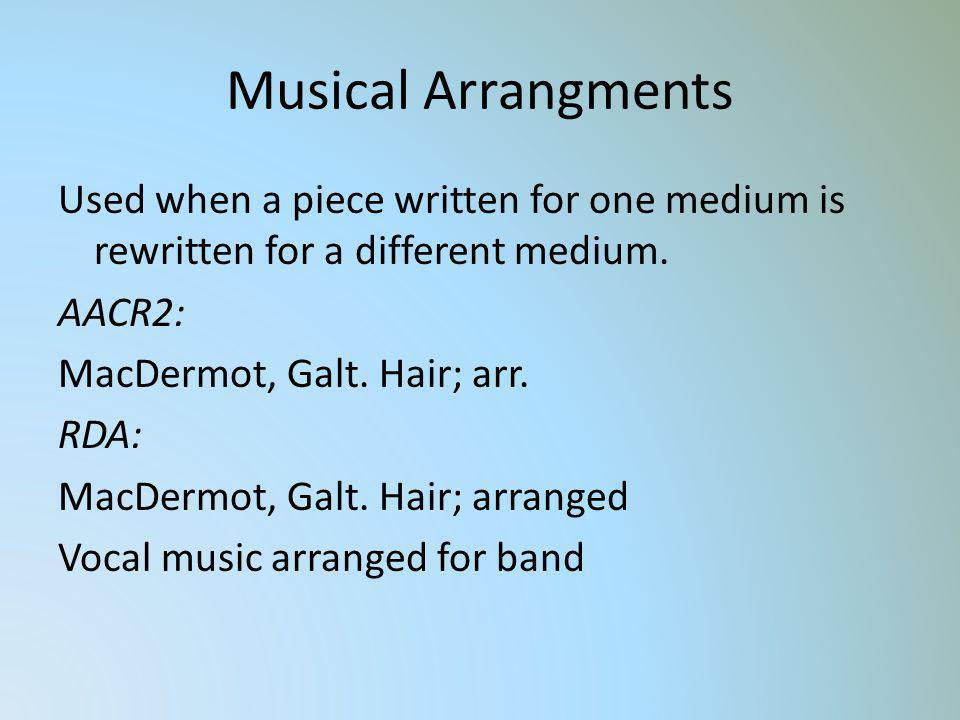 Musical Arrangments