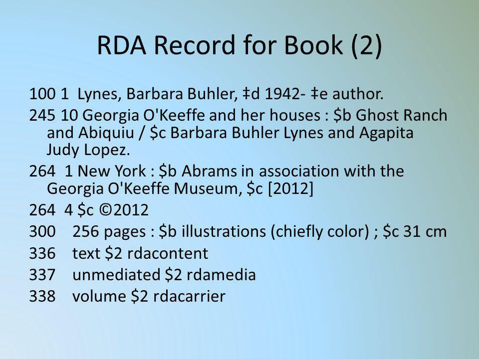 RDA Record for Book (2)