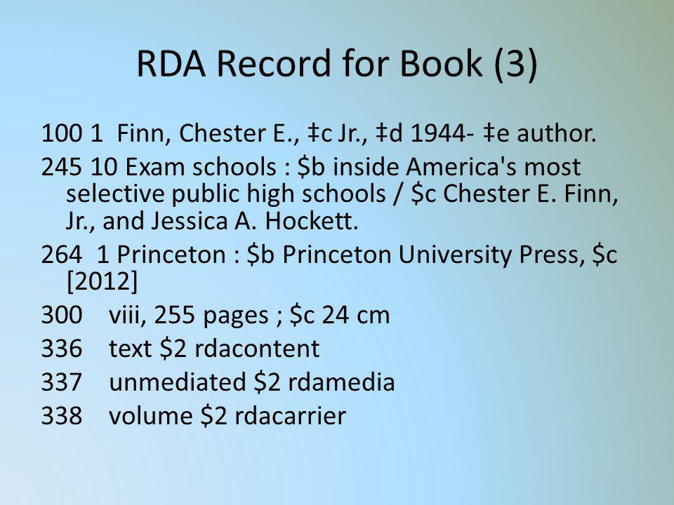 RDA Record for Book (3)