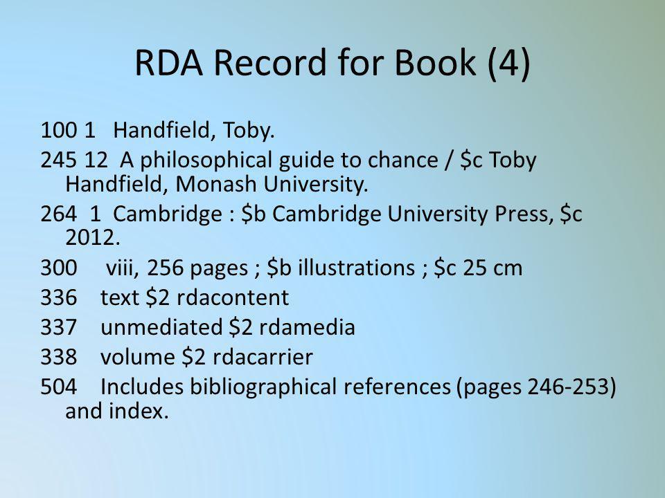 RDA Record for Book (4)