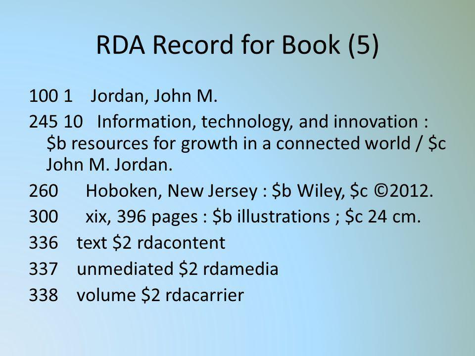 RDA Record for Book (5)