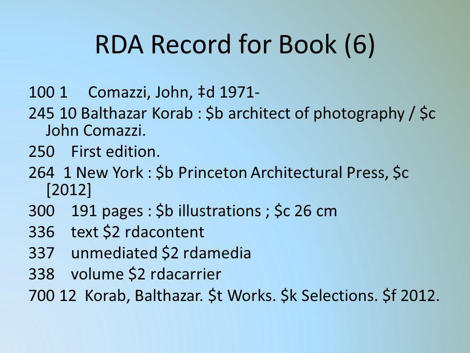 RDA Record for Book (6)