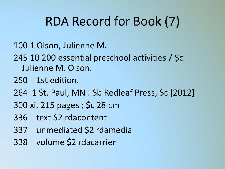 RDA Record for Book (7)