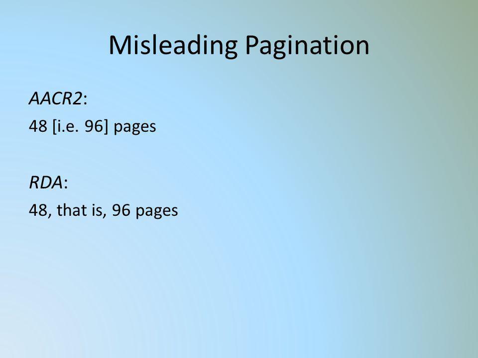 Misleading Pagination