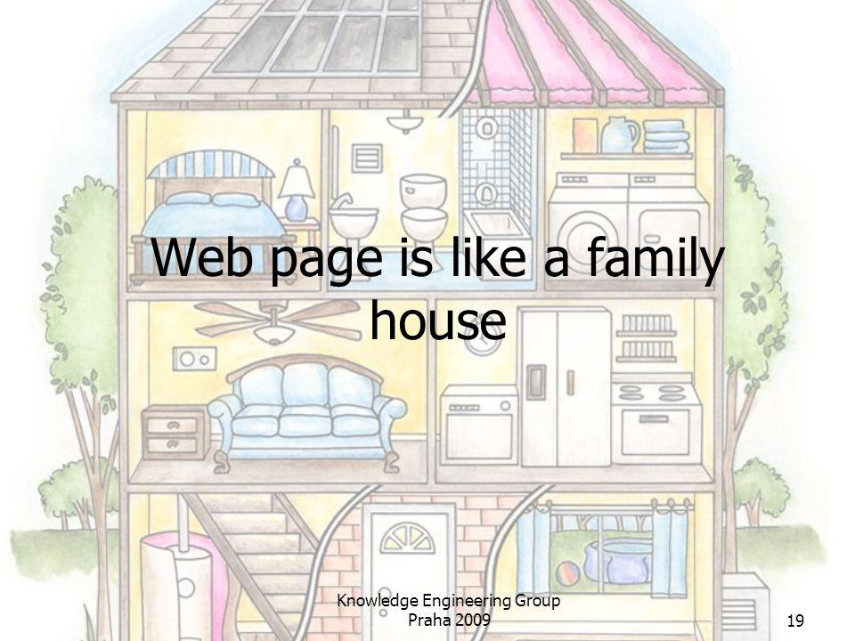 Web page is like a family house