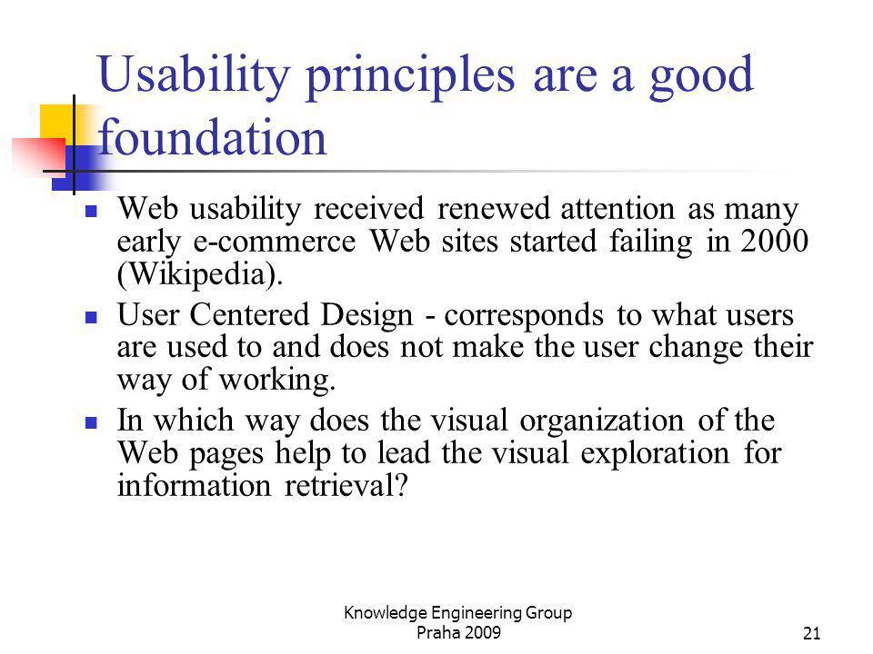 Usability principles are a good foundation