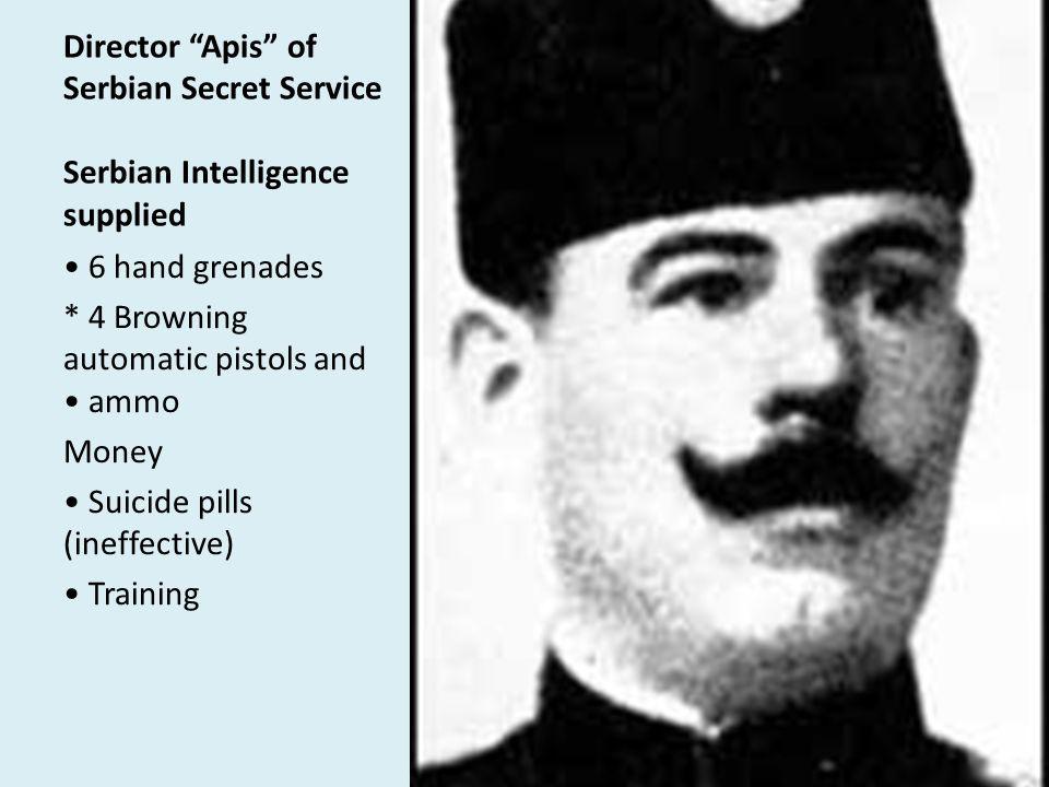 Director Apis of Serbian Secret Service Serbian Intelligence supplied