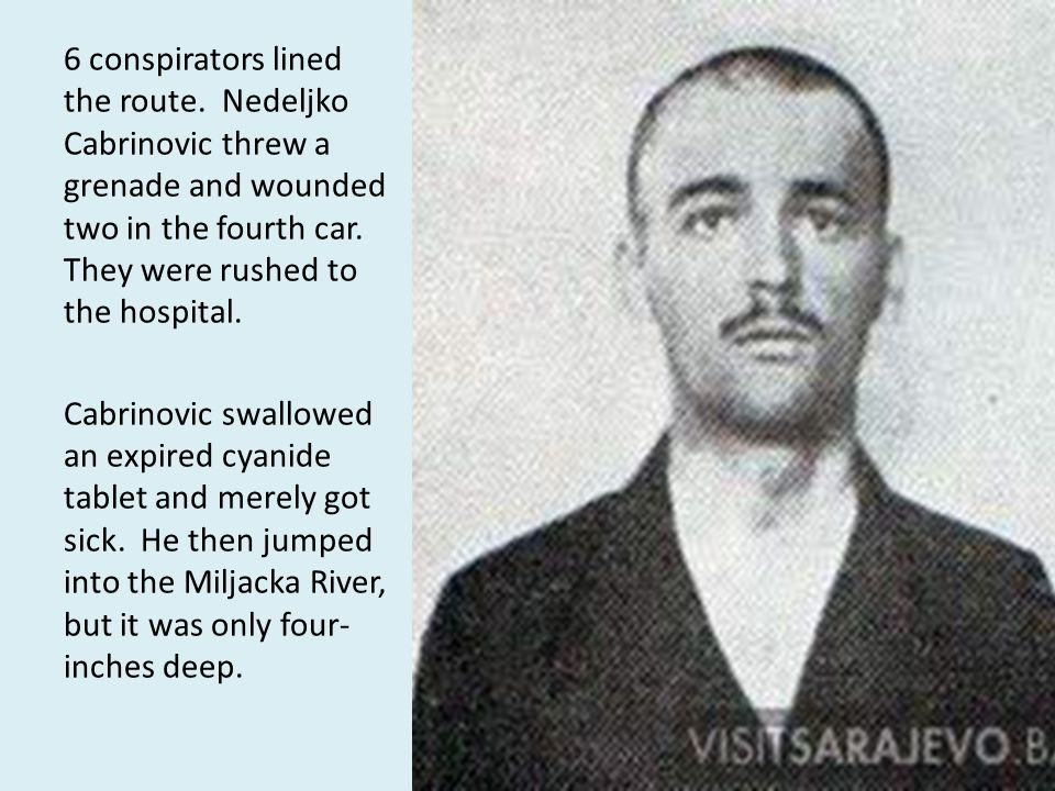 6 conspirators lined the route