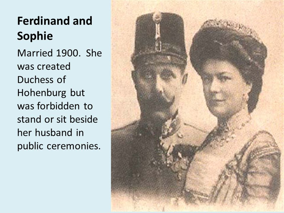 Ferdinand and Sophie Married 1900.