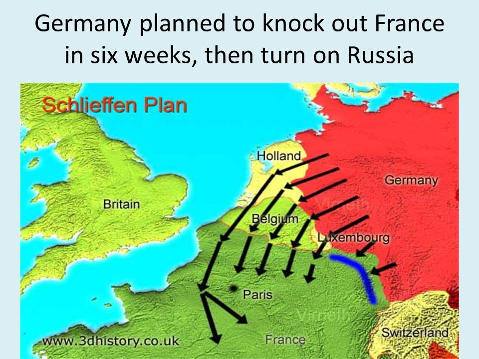 Germany planned to knock out France in six weeks, then turn on Russia