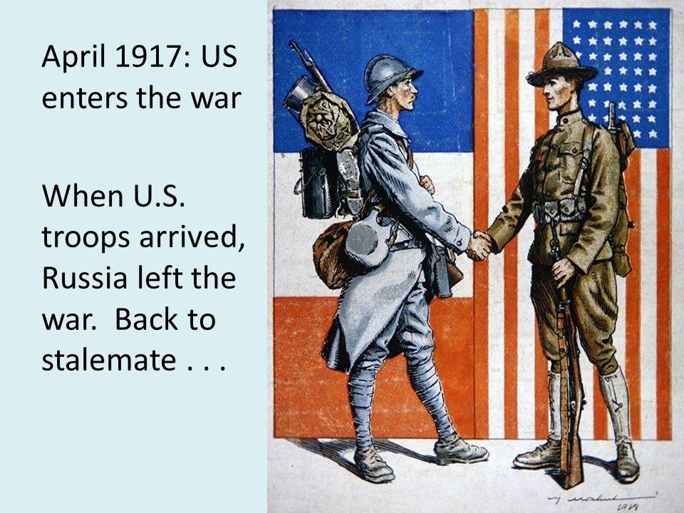 April 1917: US enters the war