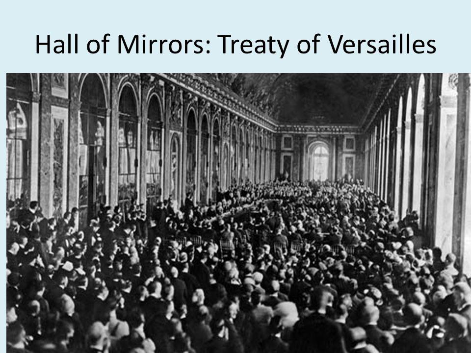 Hall of Mirrors: Treaty of Versailles