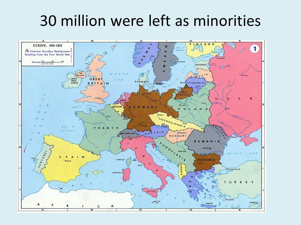 30 million were left as minorities