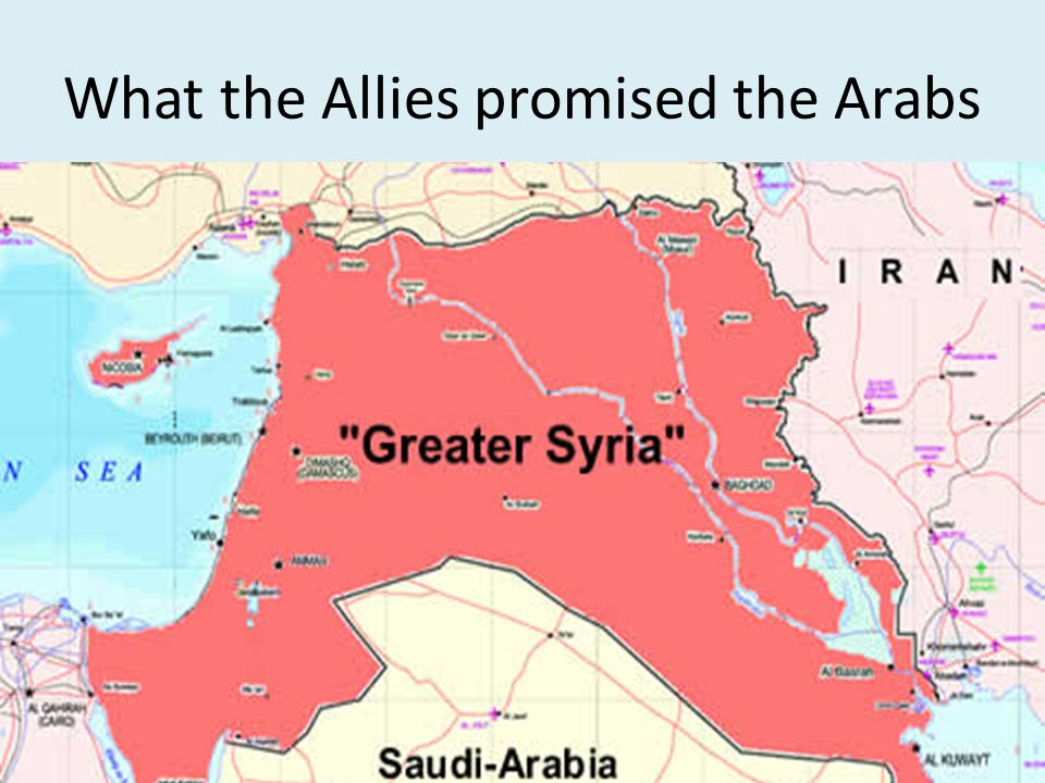 What the Allies promised the Arabs