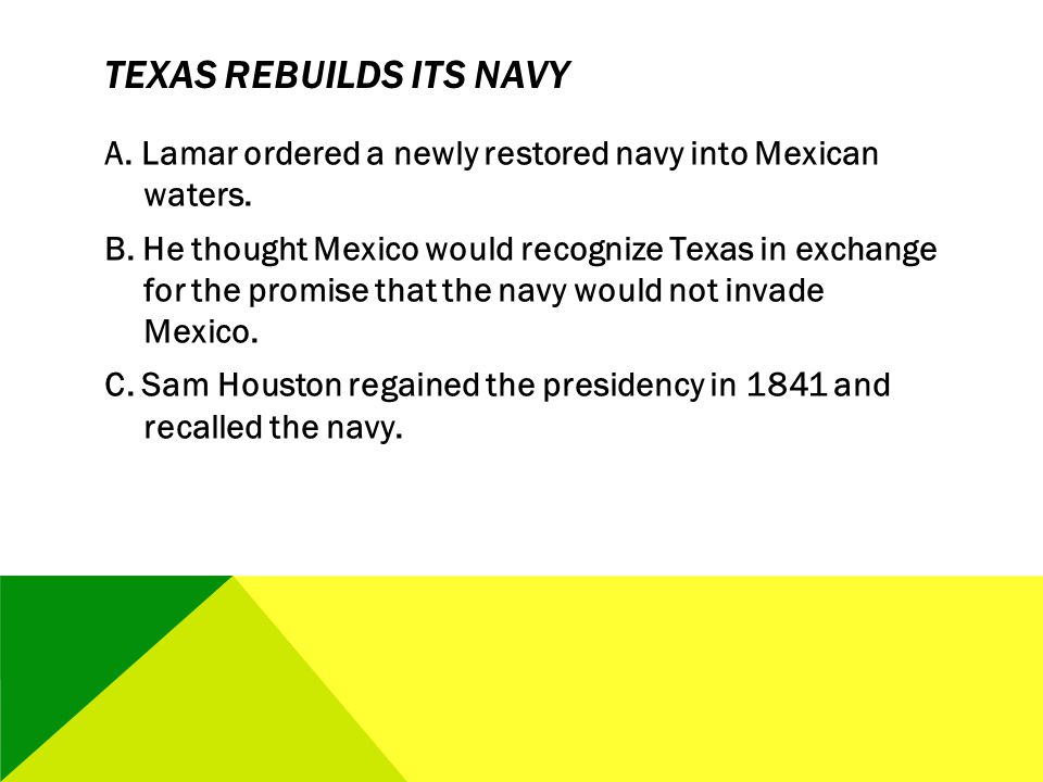 Texas Rebuilds Its Navy