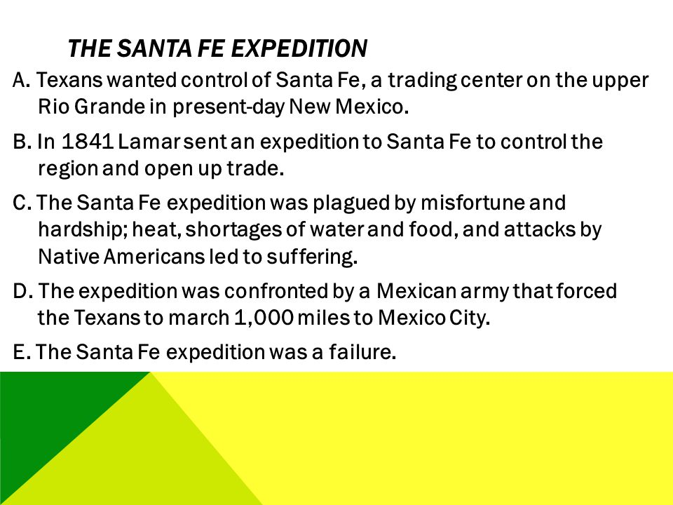 The Santa Fe Expedition
