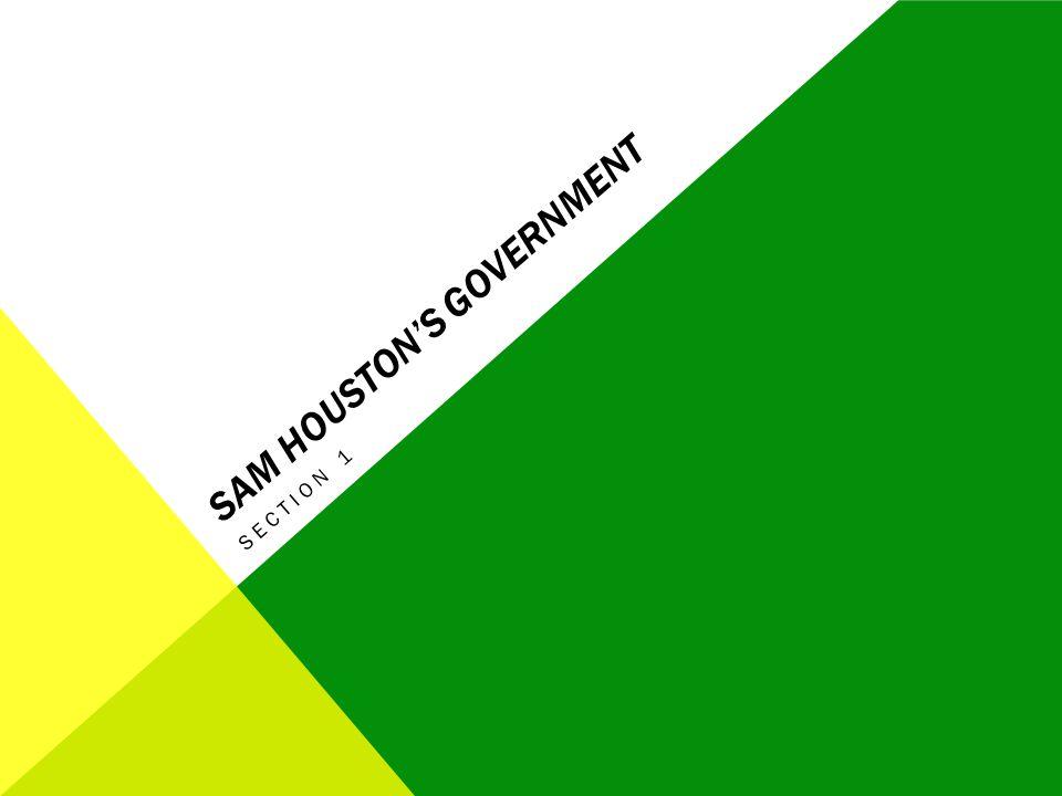 Sam Houston's Government