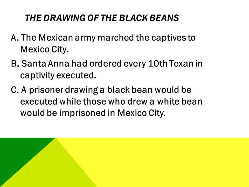 The Drawing of the Black Beans