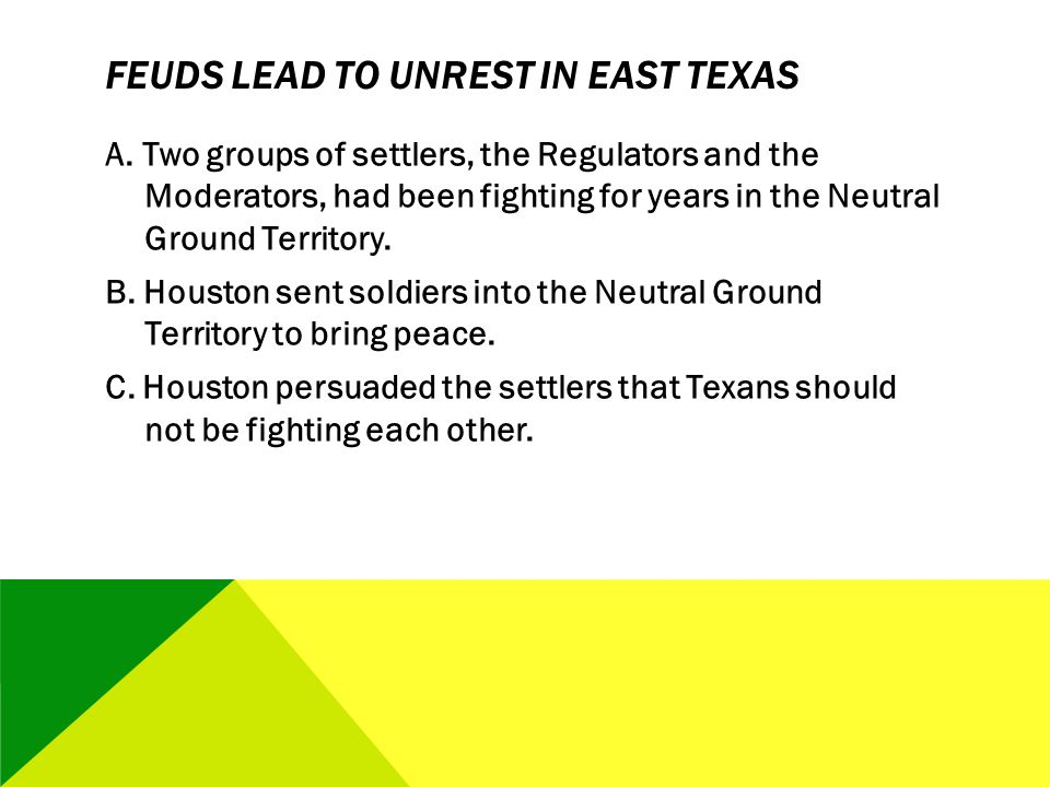 Feuds Lead to Unrest in East Texas