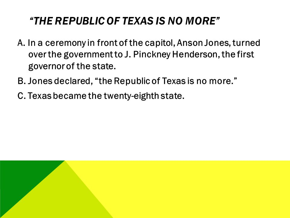 The Republic of Texas Is No More