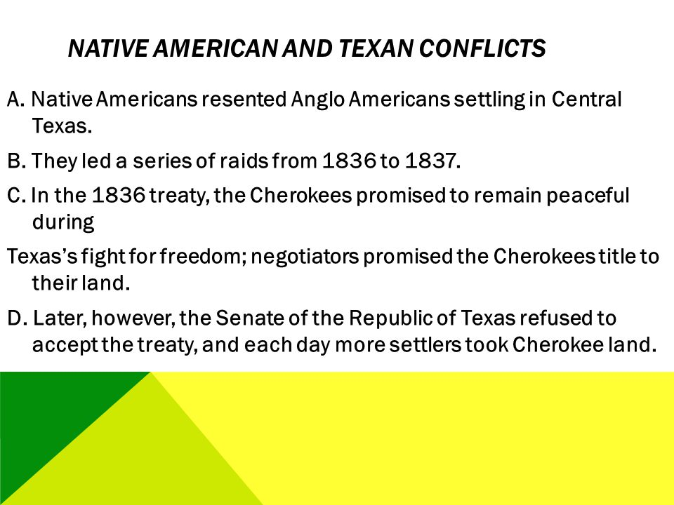 Native American and Texan Conflicts