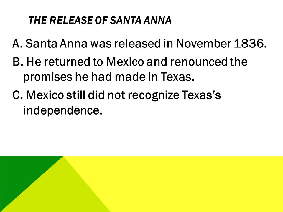 The Release of Santa Anna