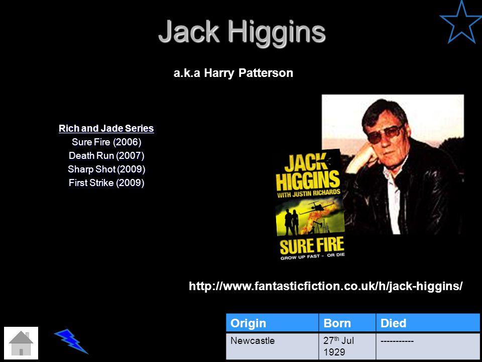 Jack Higgins a.k.a Harry Patterson