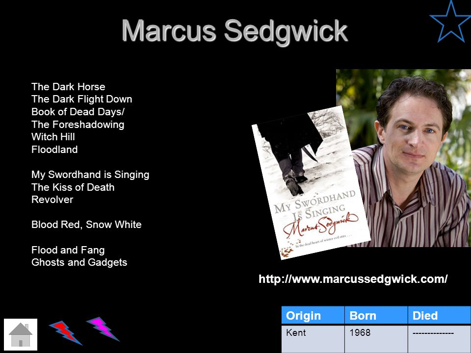 Marcus Sedgwick http://www.marcussedgwick.com/ Origin Born Died