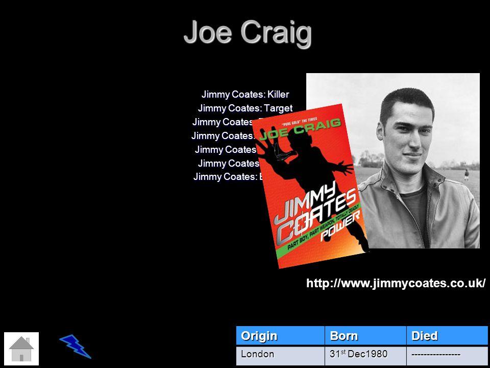 Joe Craig http://www.jimmycoates.co.uk/ Origin Born Died