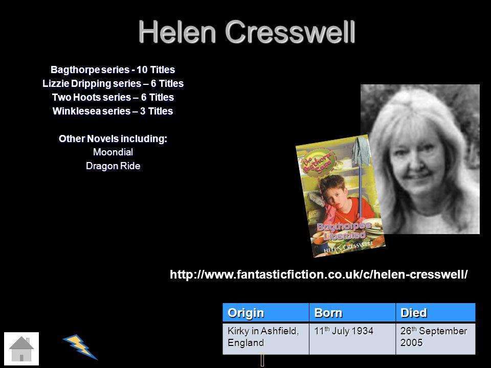 Helen Cresswell http://www.fantasticfiction.co.uk/c/helen-cresswell/