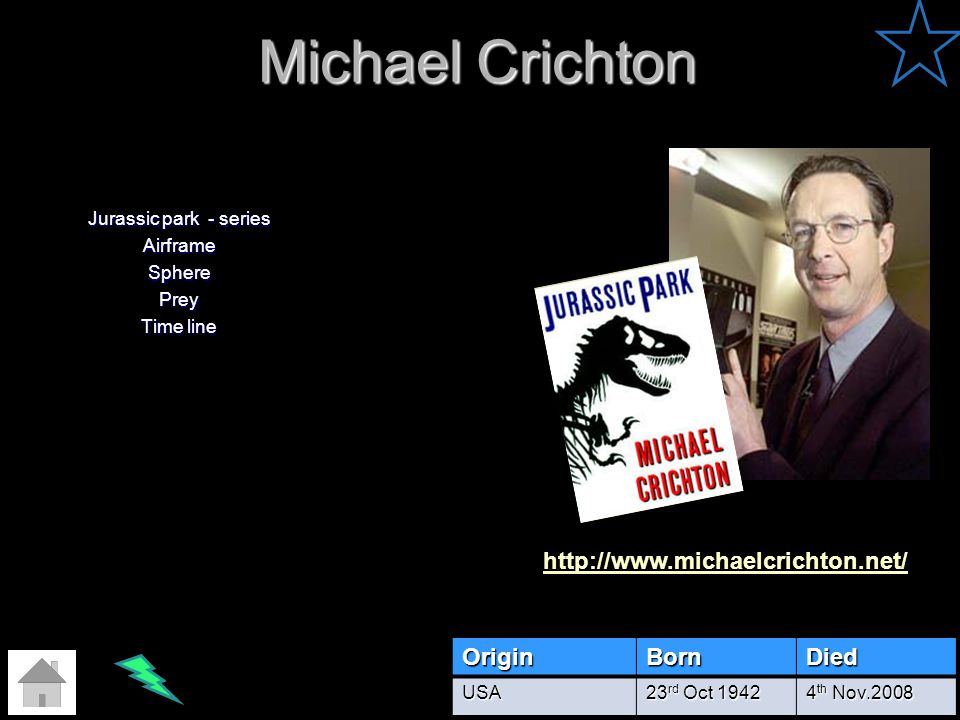 Jurassic park - series Airframe Sphere Prey Time line
