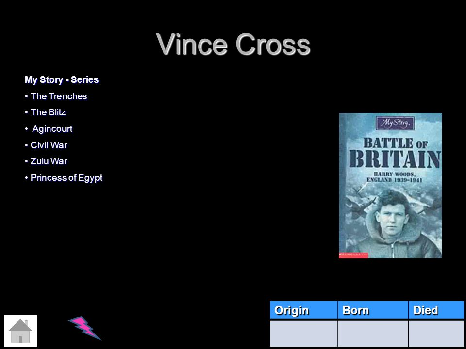 Vince Cross Origin Born Died My Story - Series The Trenches The Blitz