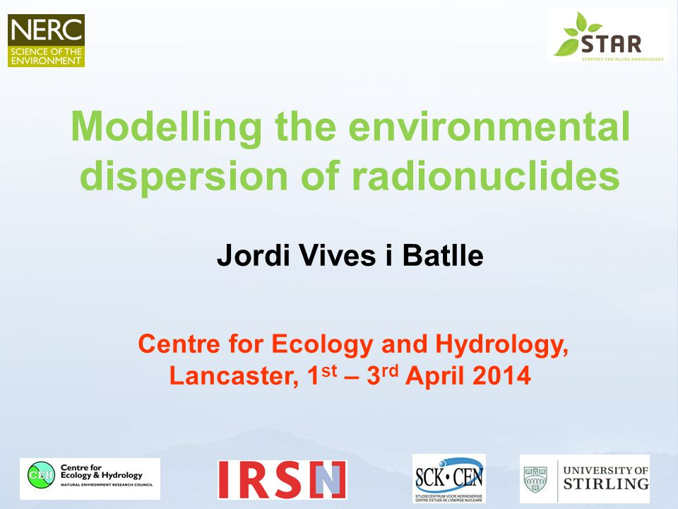 Modelling the environmental dispersion of radionuclides