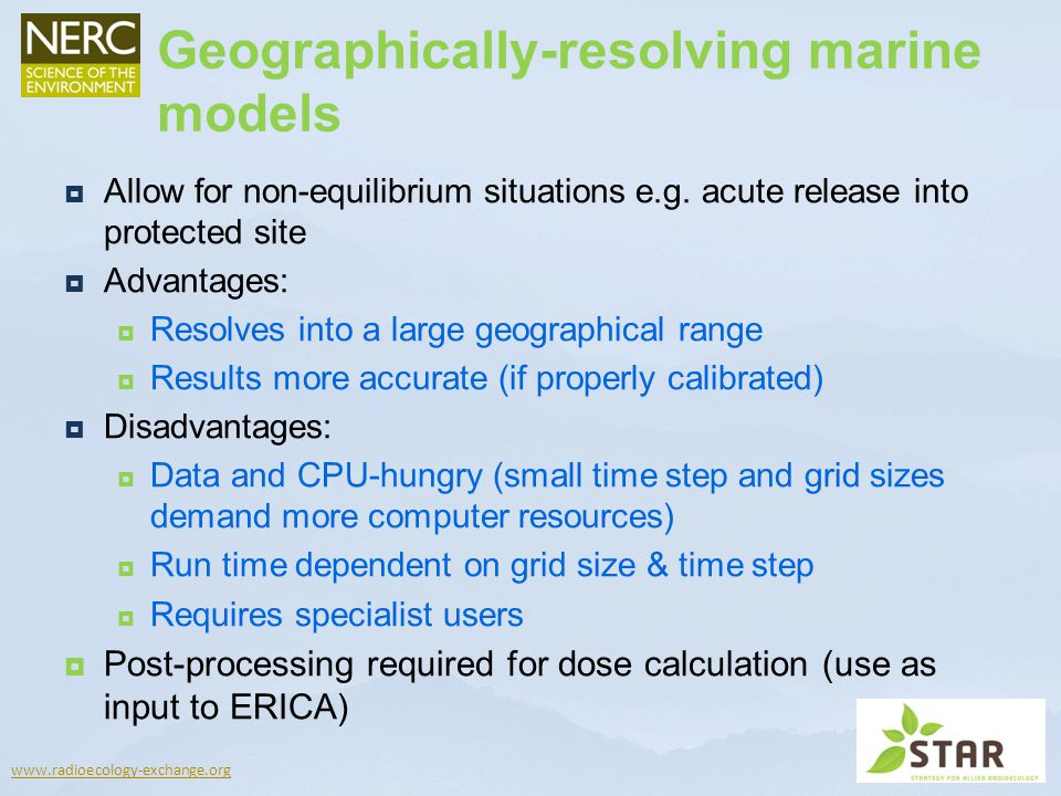 Geographically-resolving marine models